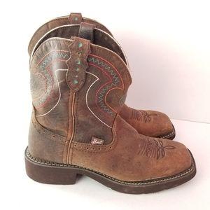 Justin Gypsy Barnwood Brown Cowboy Boots8.5B